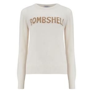 KatieAndJo Bombshell Cashmere Sweater in Ecru and Lurex