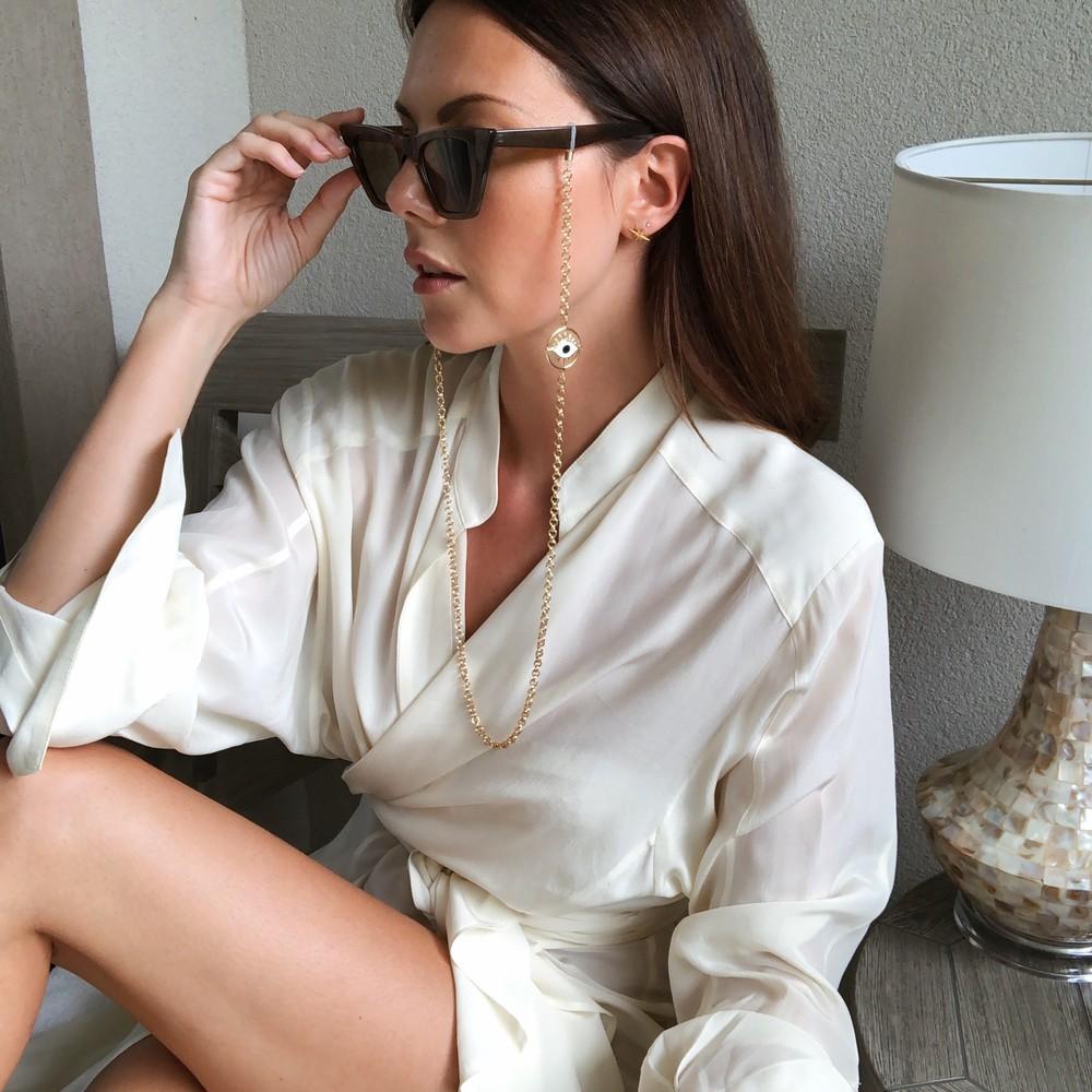 Talis Chains Flirty Eyes Sunglasses Chain Gold