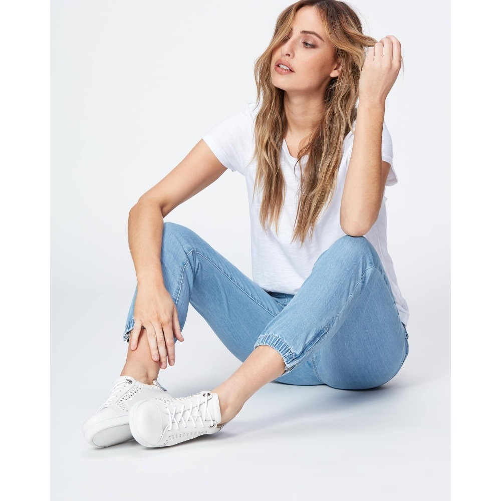 Paige Mayslie Jogger in Morning Dew Light Denim