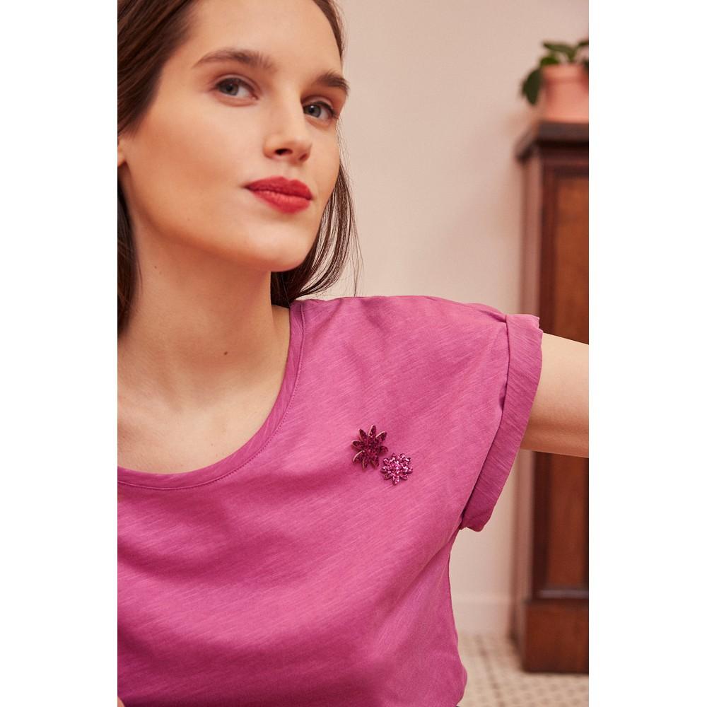 Des Petits Hauts Felix T Shirt in Violette Purple
