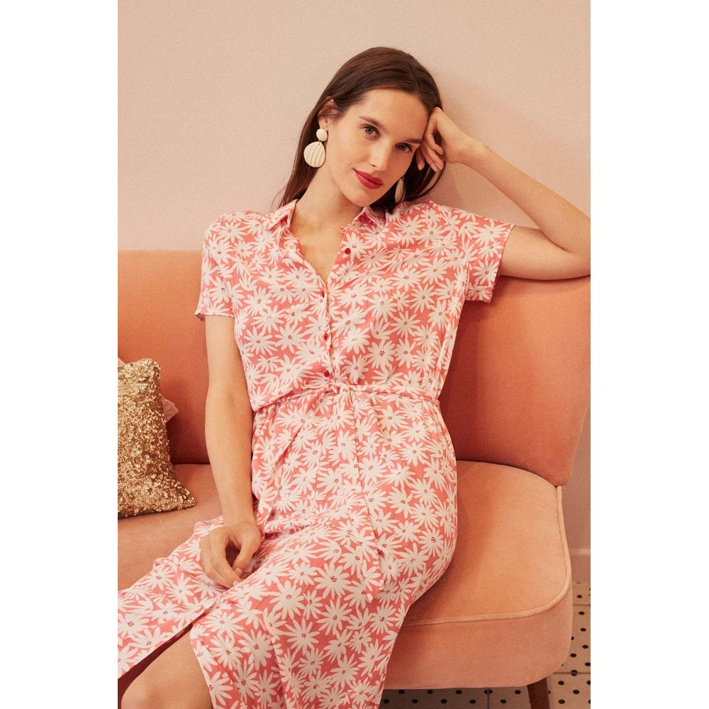Des Petits Hauts Sanae Dress Pink
