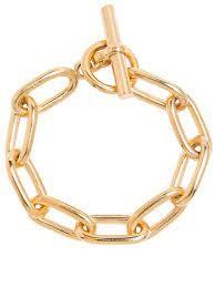 Tilly Sveaas Medium Gold Oval Linked Bracelet