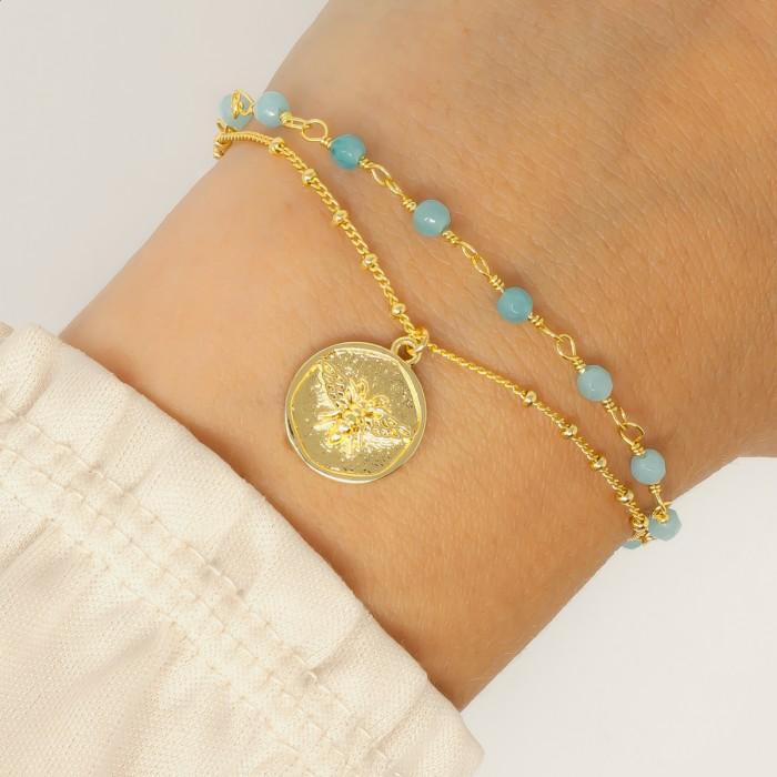Ashiana Abellio Bracelet in Aqua Green