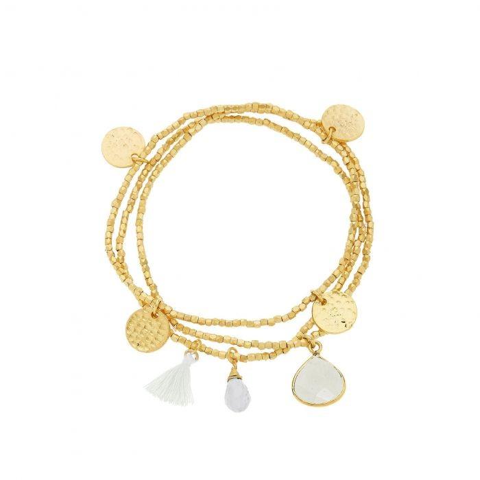 Ashiana Gemini Bracelet in White White