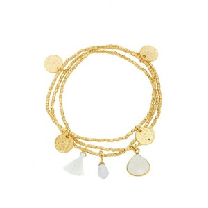 Ashiana Gemini Bracelet in White