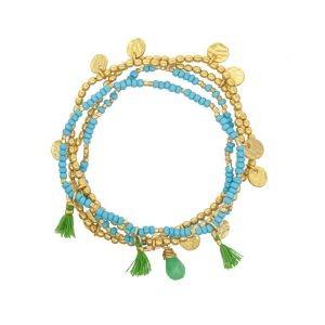 Ashiana Treasure Island Bracelet in Turquoise Turquoise