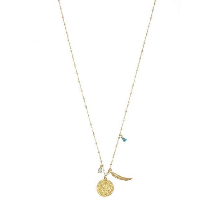 Ashiana Chilli Charm Necklace Turquoise
