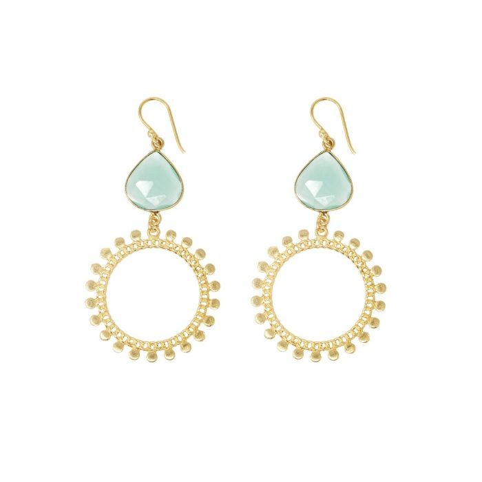 Ashiana Sunray Earrings in Turquoise Turquoise