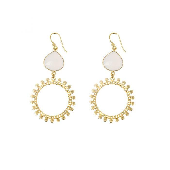 Ashiana Sunray Earrings in White White
