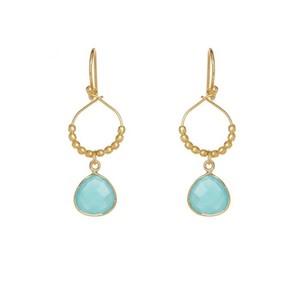Ashiana Bay Reef Earrings in Turquoise in Green