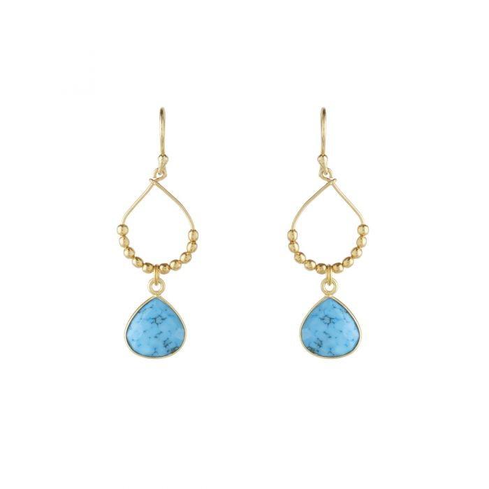 Ashiana Bay Reef Earrings in Turquoise Turquoise