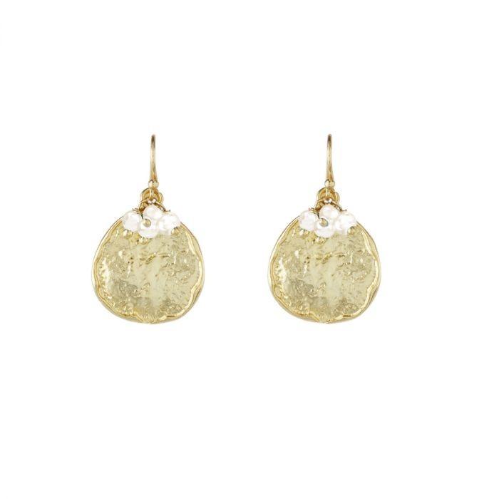 Ashiana Solange Earrings in Pearl White