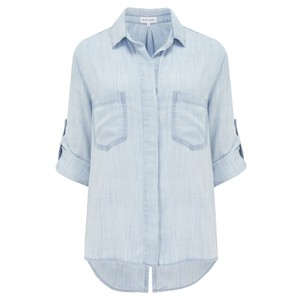 Bella Dahl Split Back Button Down Shirt in Desert Sky