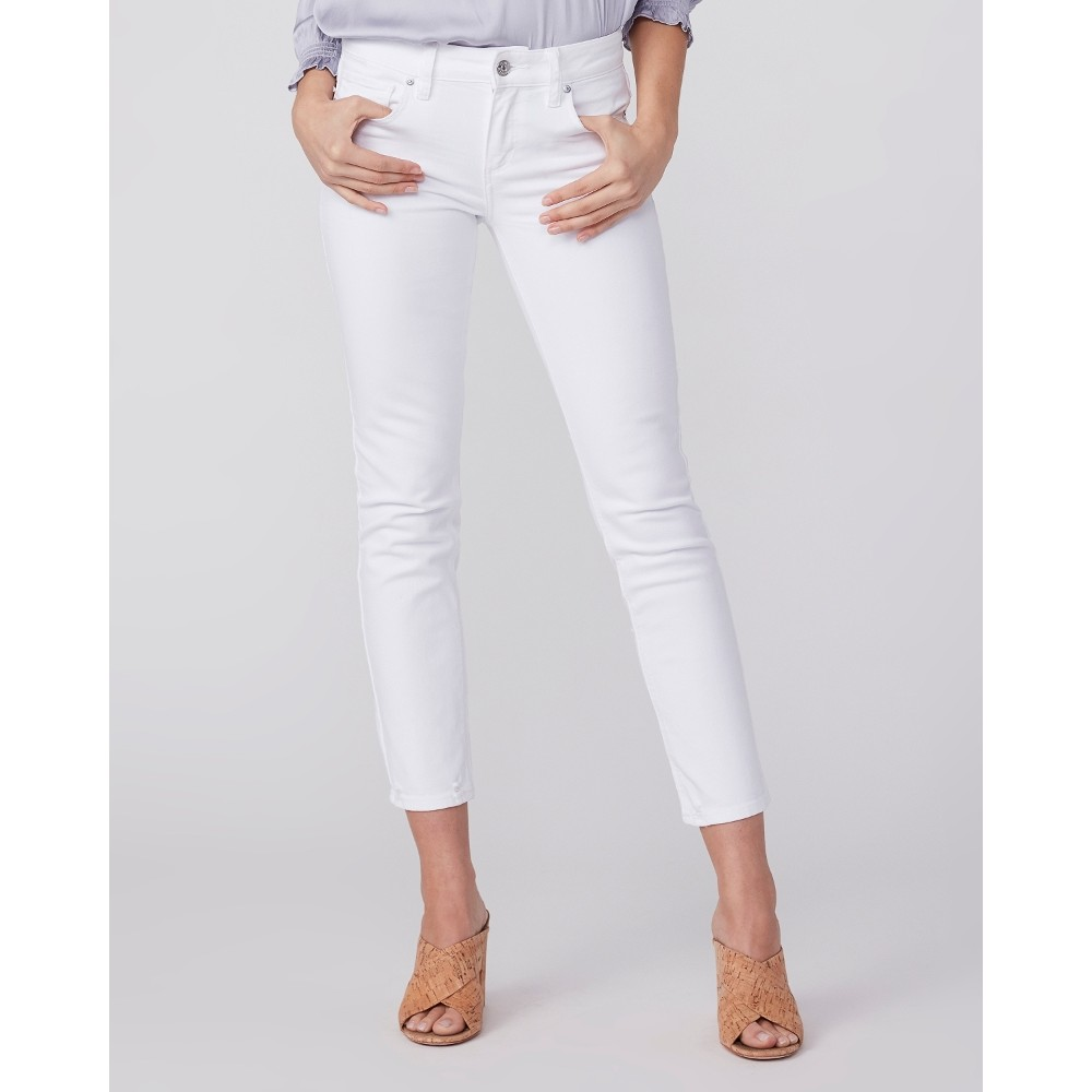 Paige Amber Straight Denim Jeans in White White