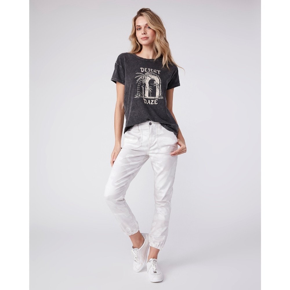 Paige Mayslie Jogger in Faded Beige Beige