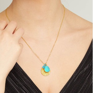 Ashiana Spell Coin Necklace in Turquoise
