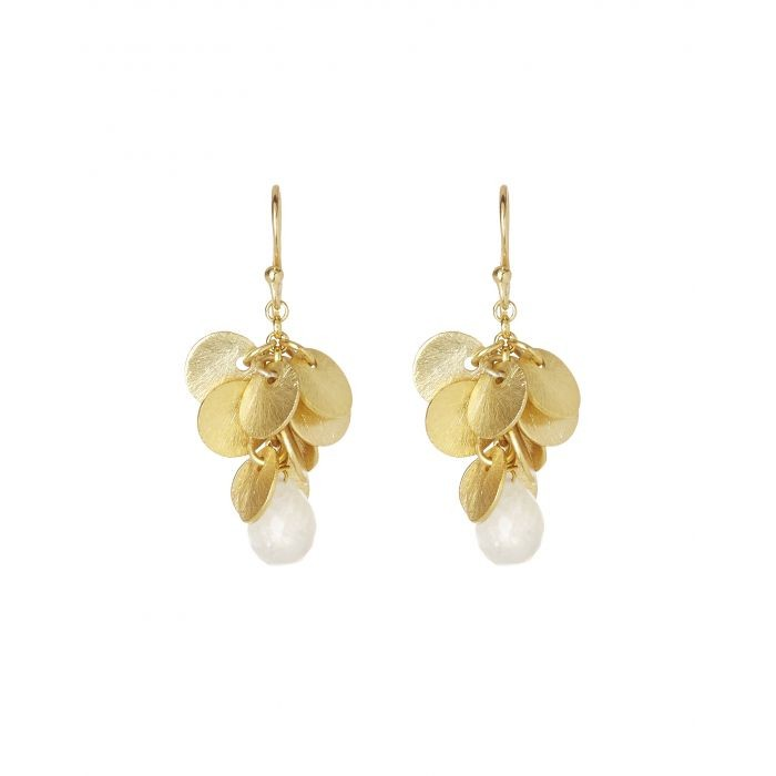 Ashiana Winona Earrings in Moonstone White