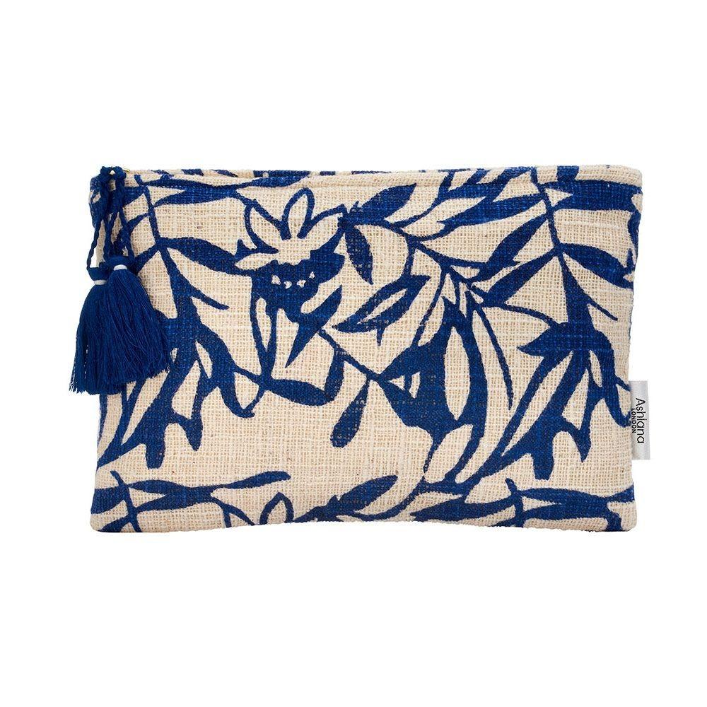 Ashiana Mini Miami Pouch in Blue Floral Blue