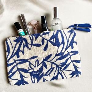 Ashiana Mini Miami Pouch in Blue Floral