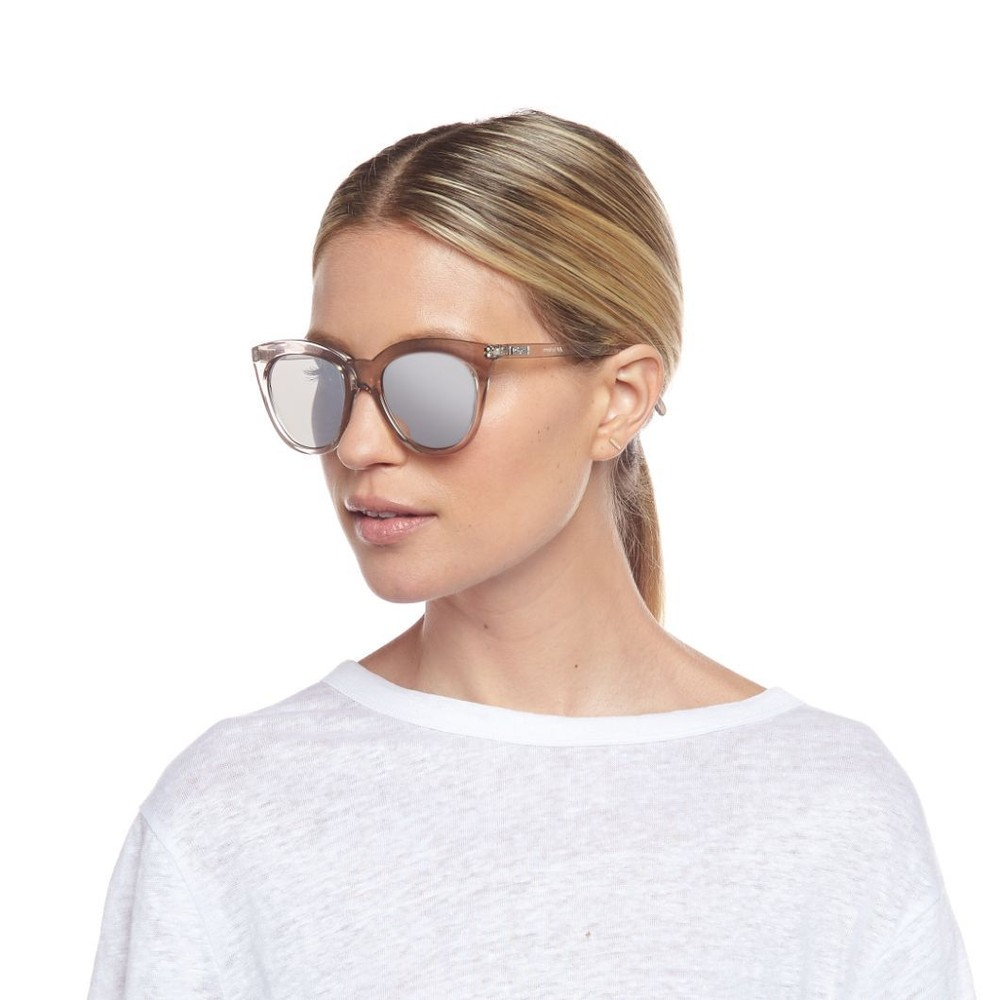 Le Specs Half Moon Magic Sunglasses in Stone Metallic