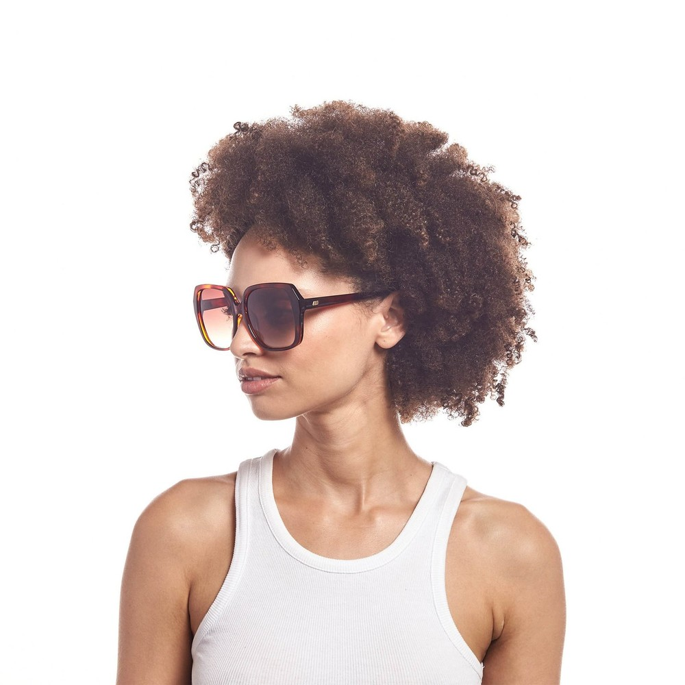 Le Specs Fro Fro Sunglasses in Toffee Tort Brown