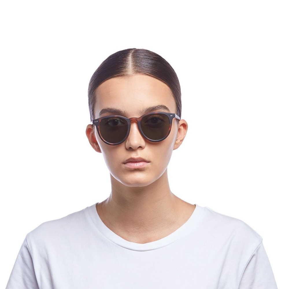 Le Specs Firestarter Sunglasses in Matt Tort Brown