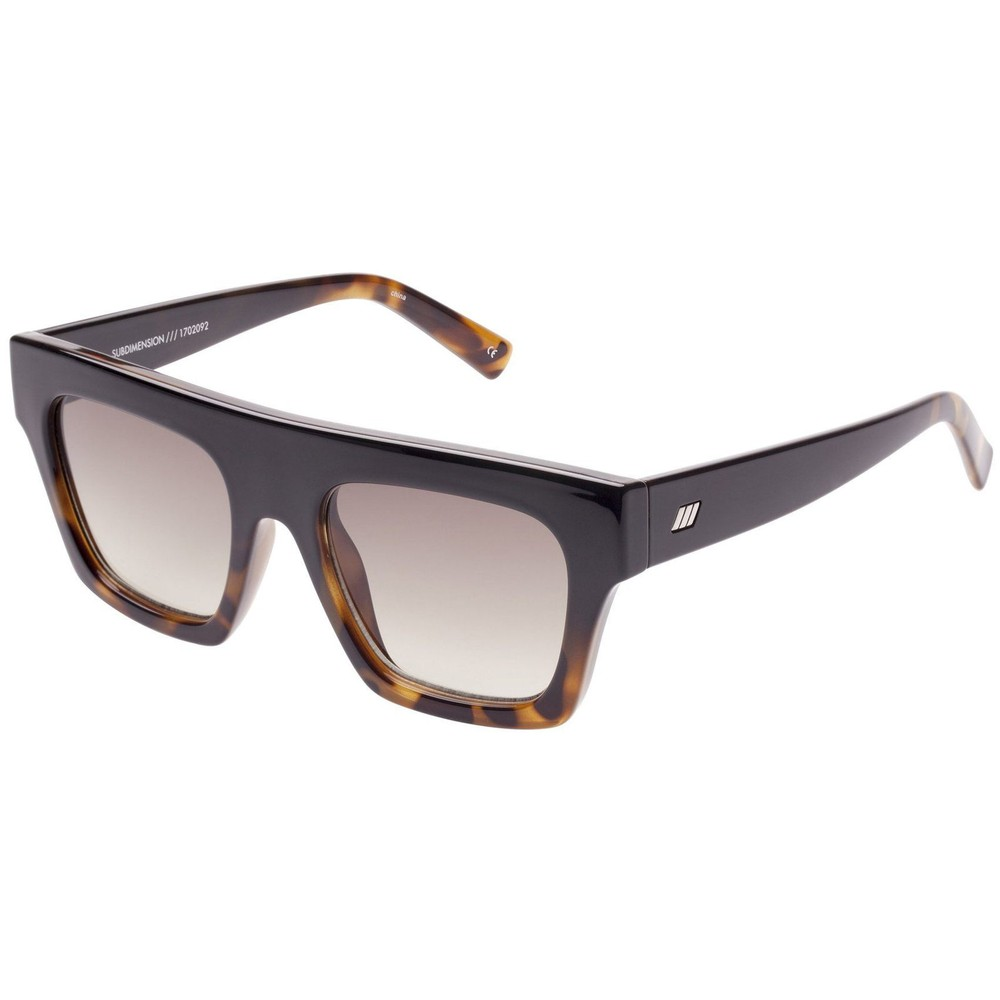 Le Specs Subdimension Sunglasses in Black Tort Brown