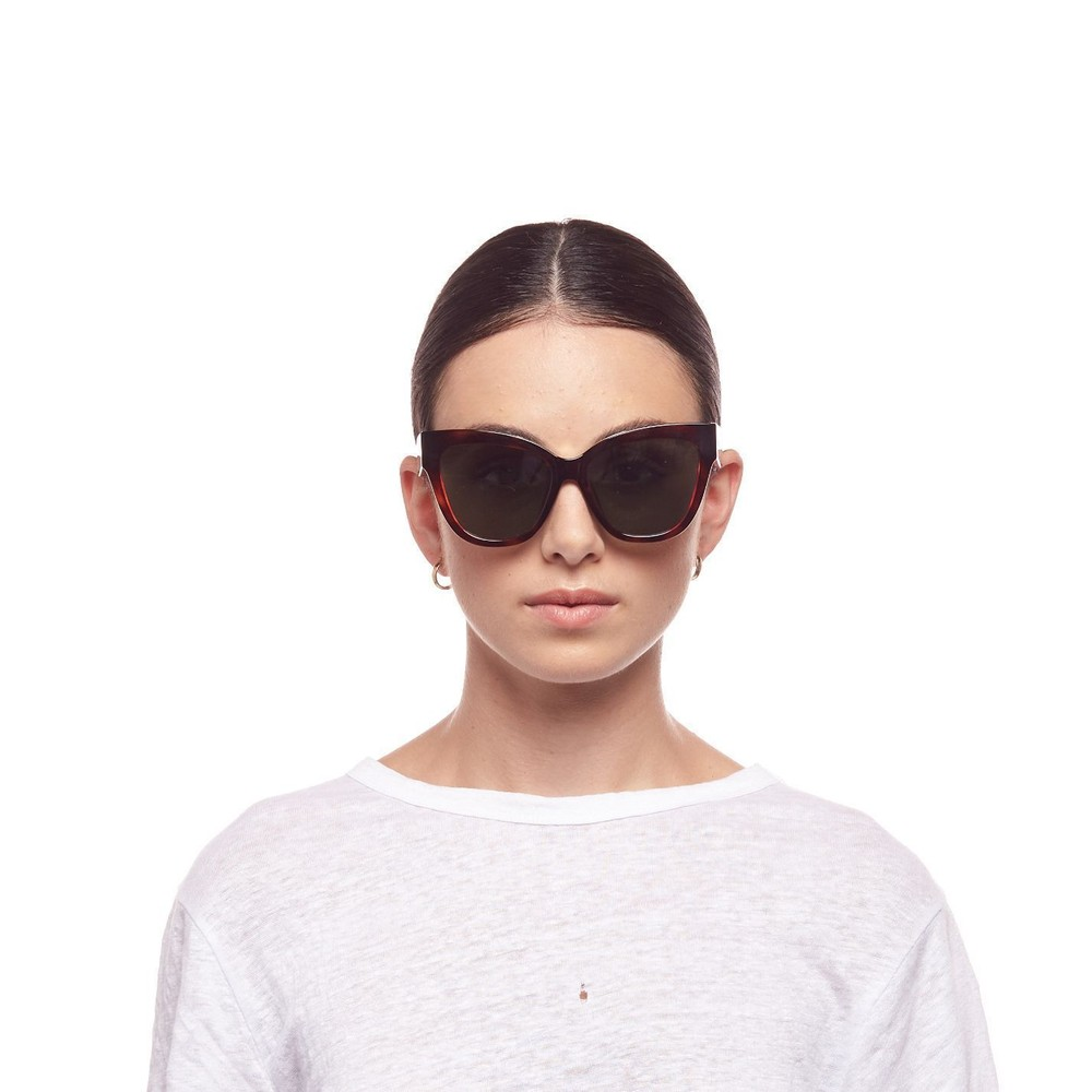 Le Specs Le Vacanze Sunglasses in Toffee Tort Brown