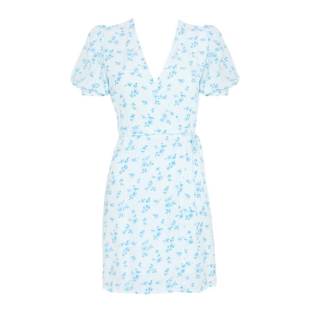 Faithfull The Brand Jaclyn Dress in Rocha Floral Blue
