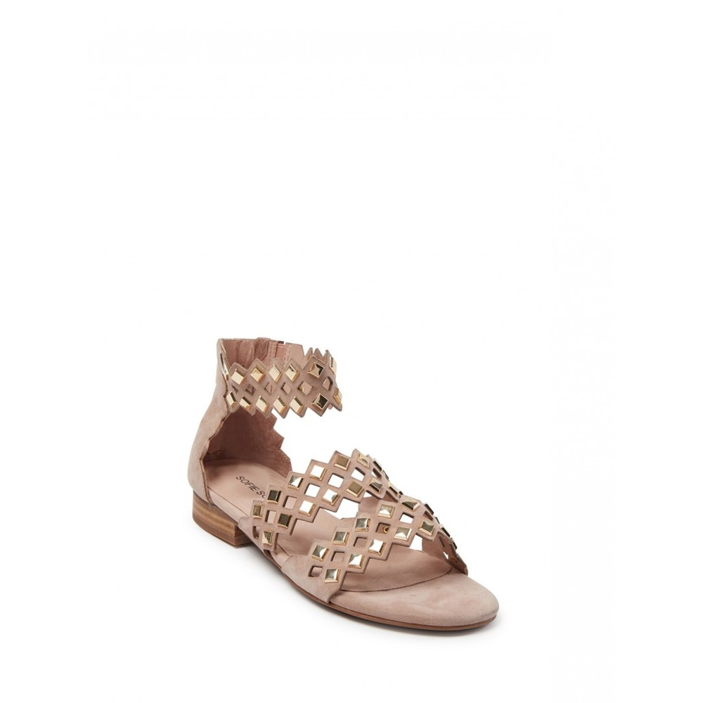 Sofie Schnoor Cut Out Sandals in Rose Pale Pink