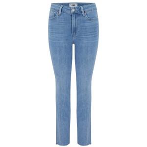 Paige Cindy Raw Hem Denim Jeans in Park Avenue