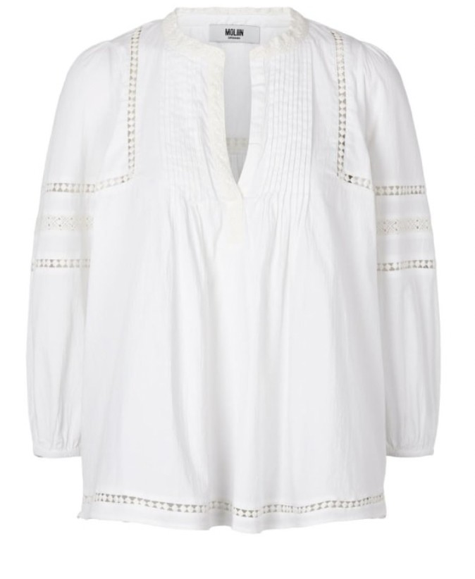 Moliin Jasmine Blouse in White White