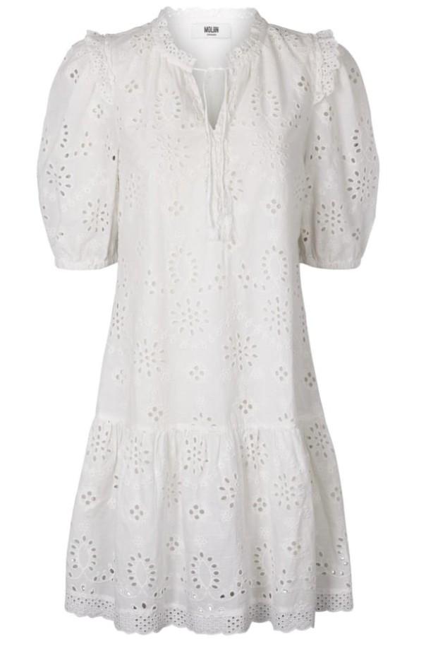 Moliin Otillia Dress in White White