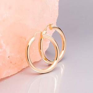 Loel & Co Jewellery Medium Thick Gold Hoop Earrings