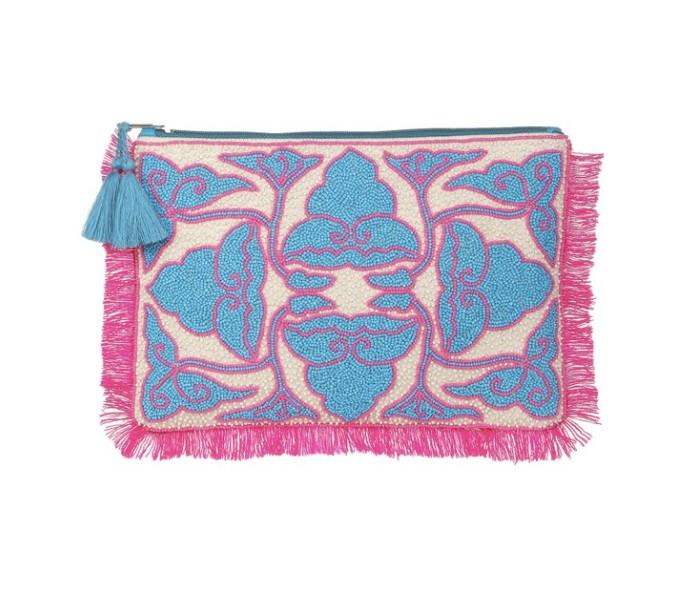 Ashiana Udaipur beaded maxi clutch Pink