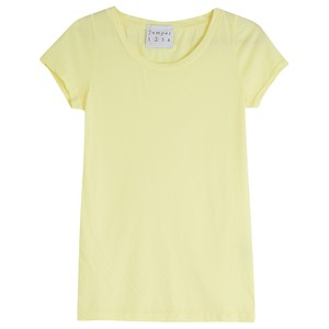 Jumper 1234 Fitted Crew Cotton T Shirt in Yellow