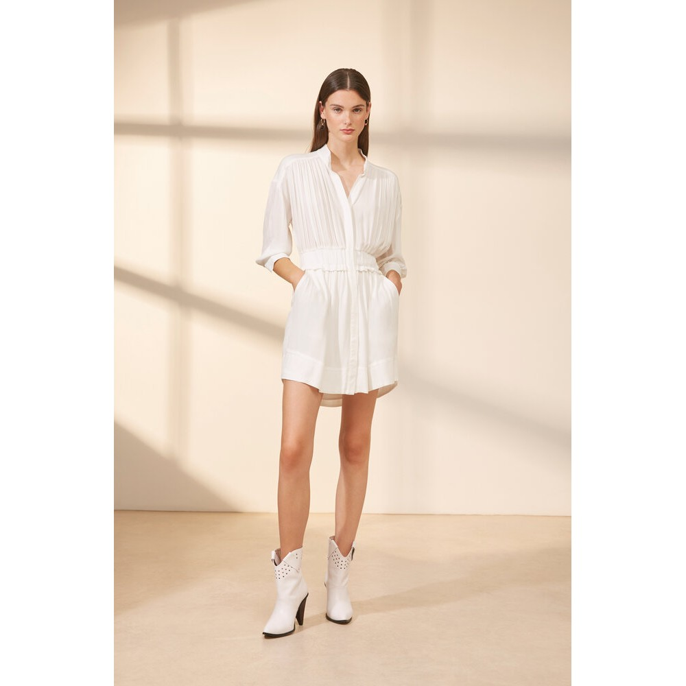 Suncoo Clara Dress in White White