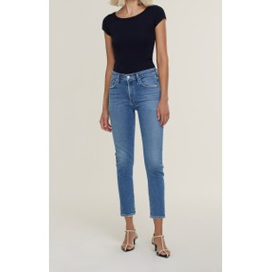 Agolde Toni Mid Rise Straight Jeans in Viewpoint