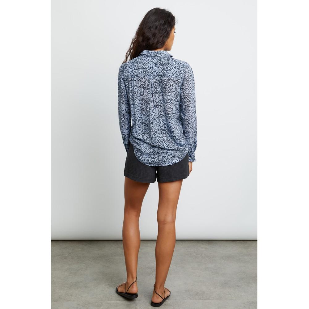 Rails Josephine Buttondown Shirt in Blue Lynx Blue