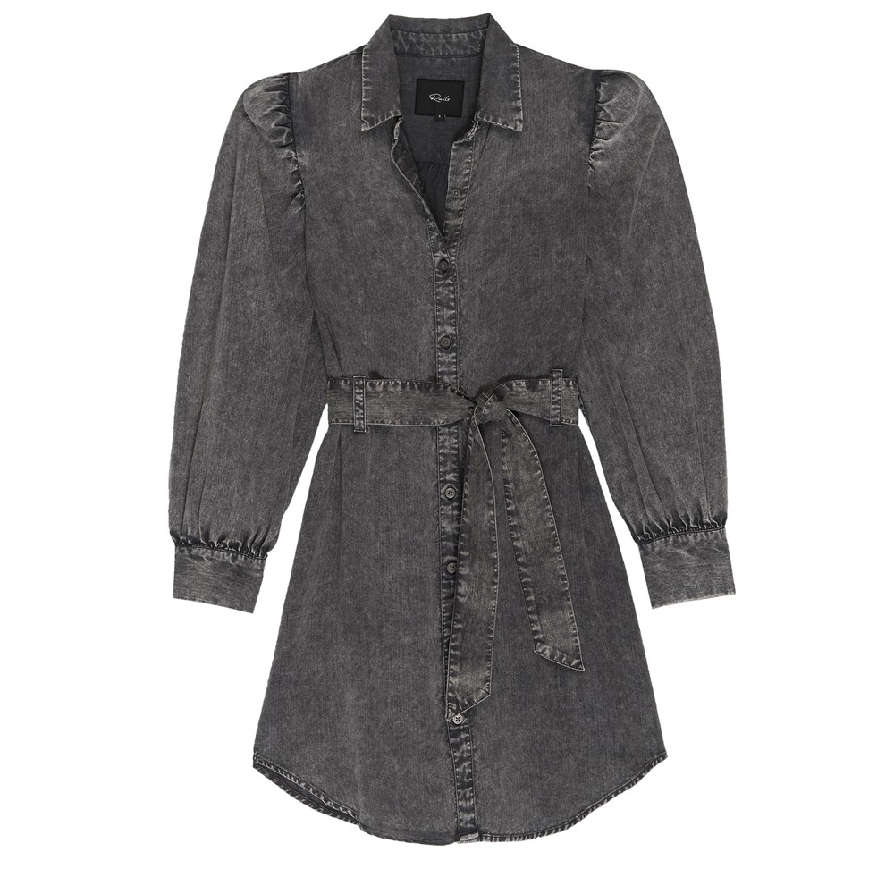 Rails Adele Dark Acid Wash Dress Grey