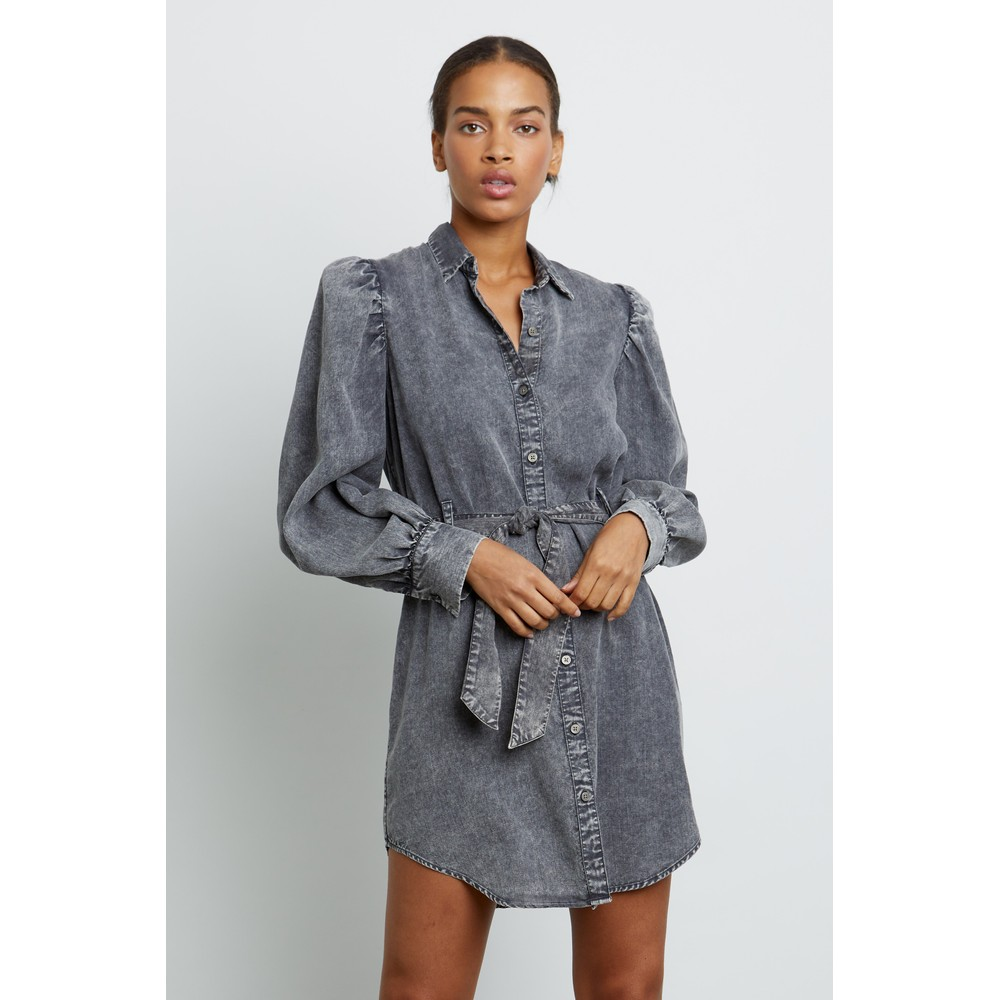 Rails Adele Dark Acid Wash Dress Grey