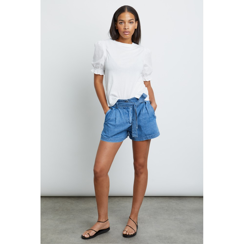 Rails Laurel Puff Sleeve Top White
