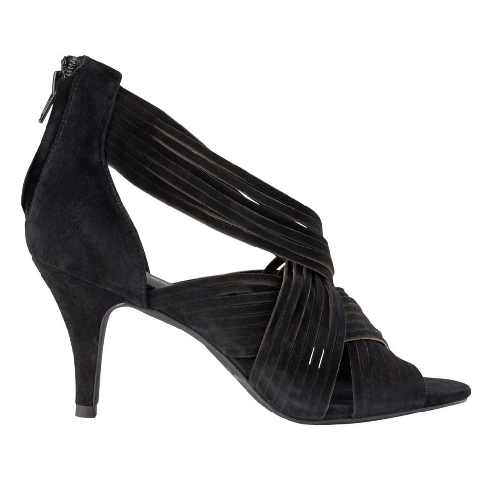 Sofie Schnoor Molly Suede Heels in Black Black