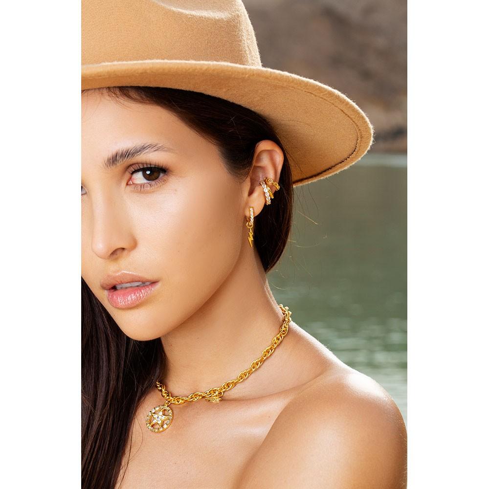 Celeste Starre Always Striking Earrings Gold
