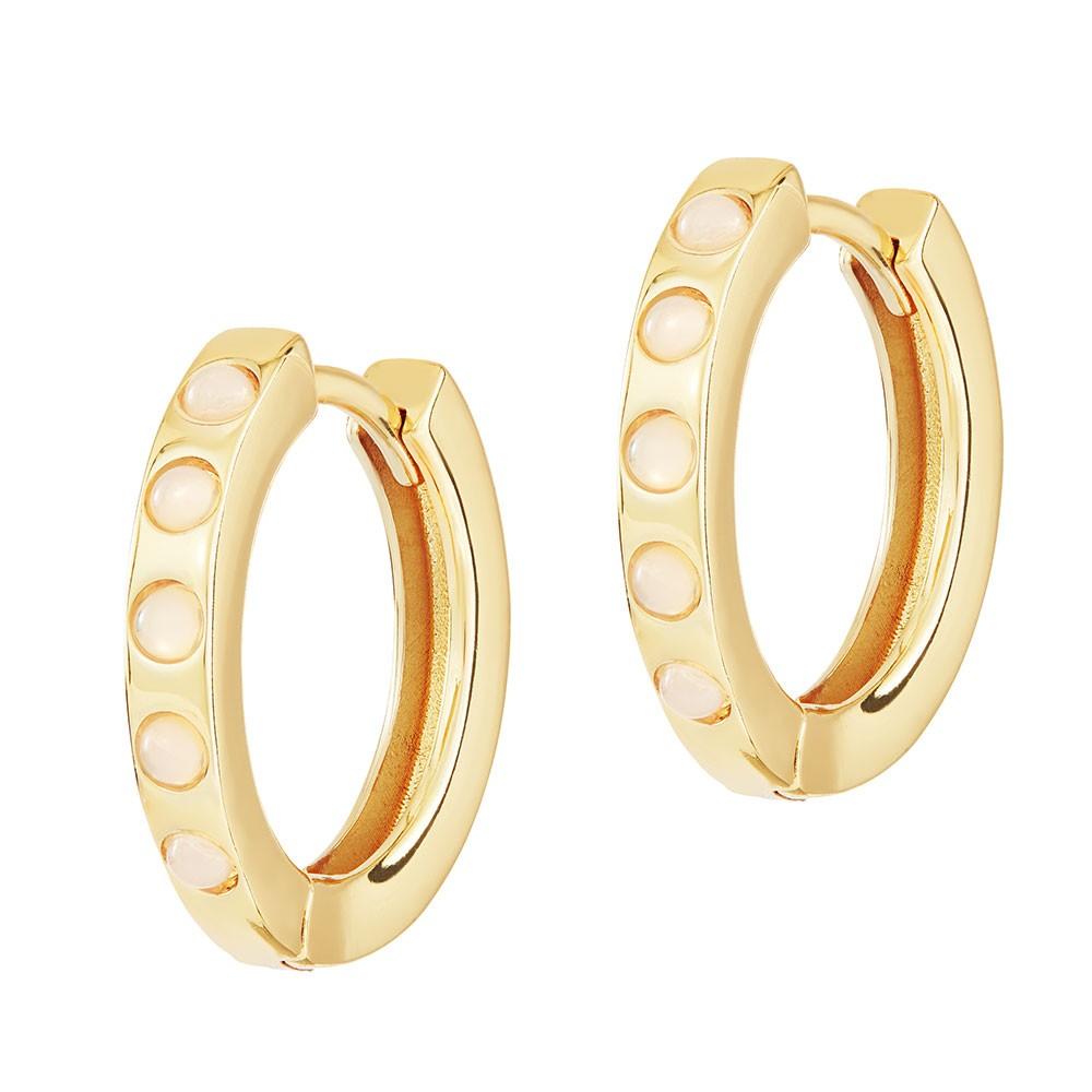 Celeste Starre Full Moon Earrings Gold