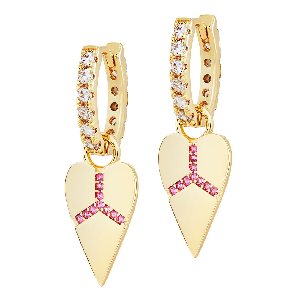 Celeste Starre Peace and Love Earrings Gold