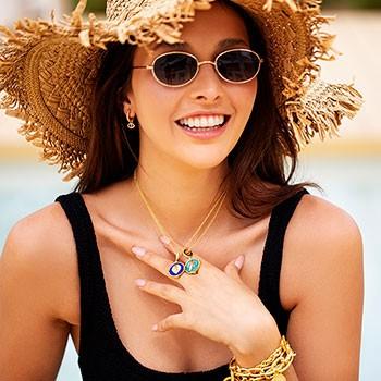 Celeste Starre Rhodes Earrings Gold