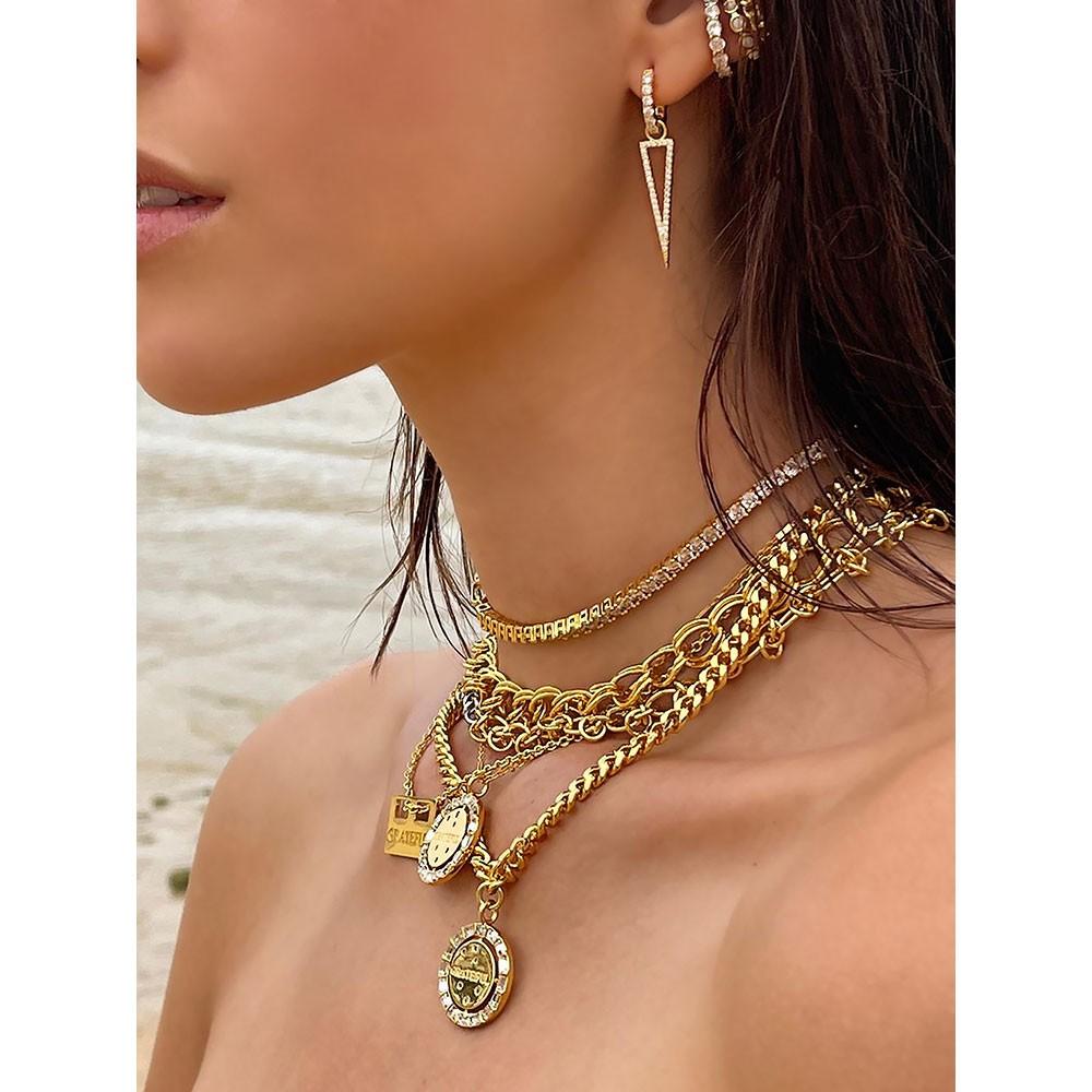Celeste Starre The Gratitude Necklace Gold