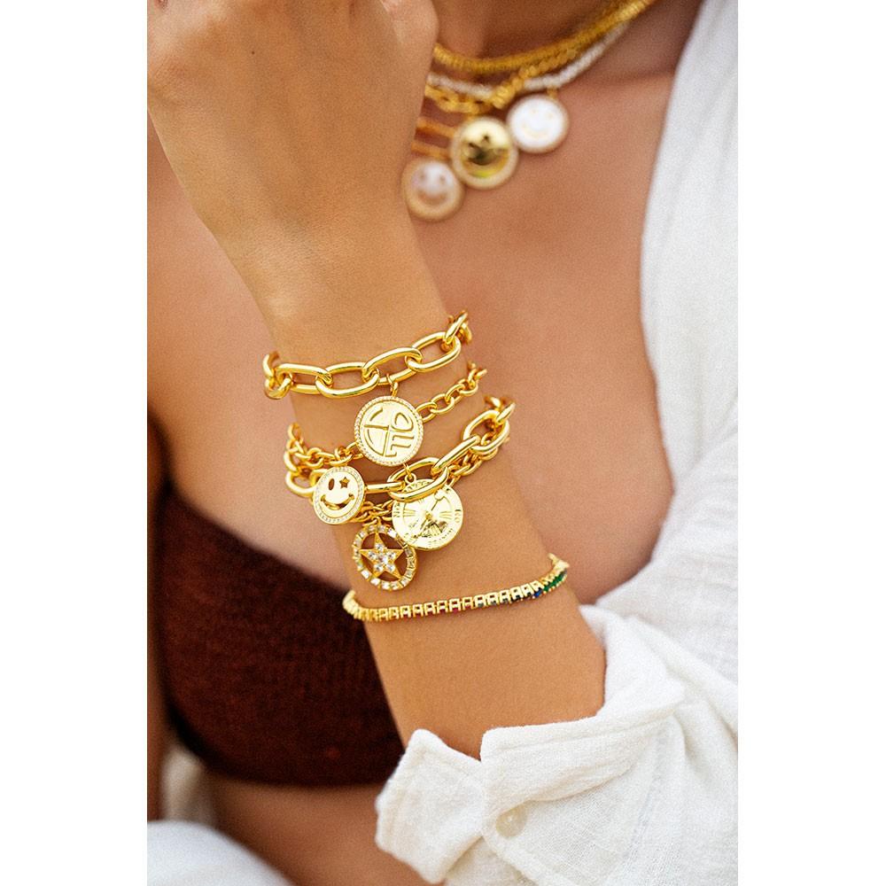 Celeste Starre Heart Beats For You Bracelet Gold