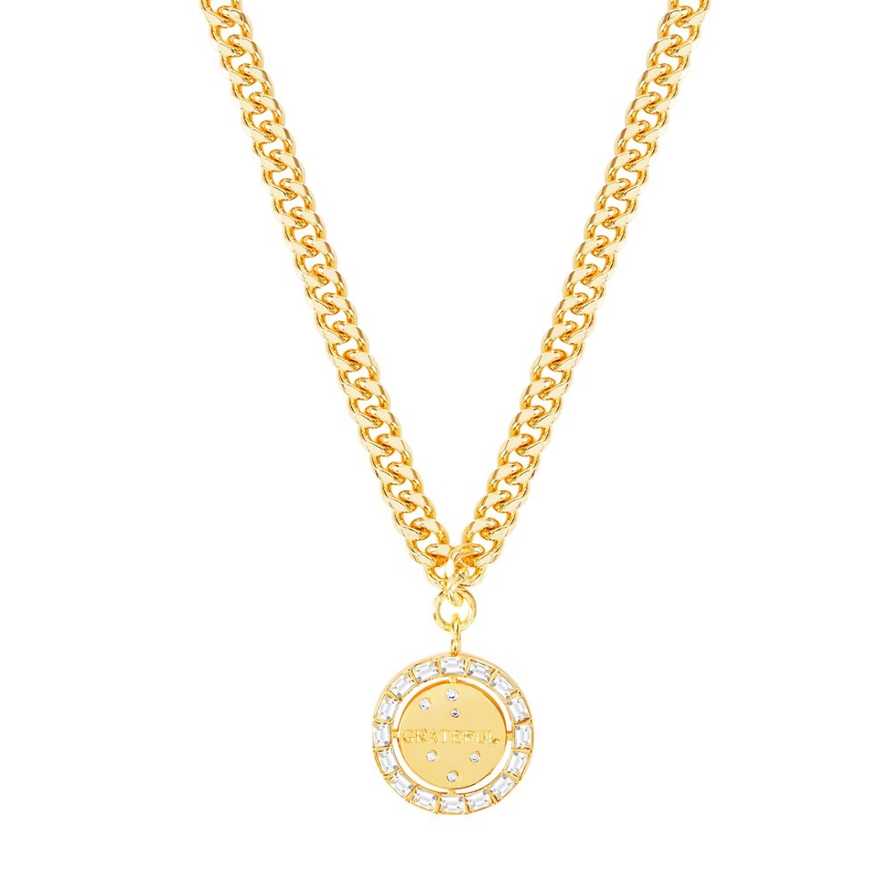 Celeste Starre Halo Of Gratitude Necklace Gold